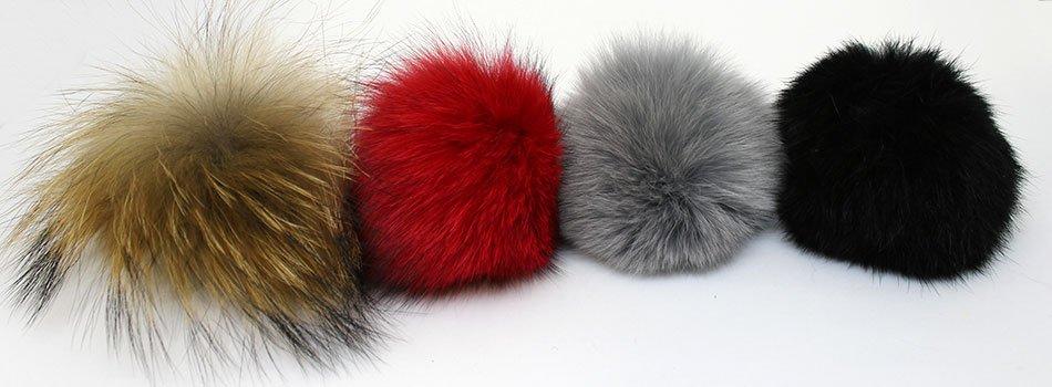 Pompones de pelo natural para tus gorros de lana