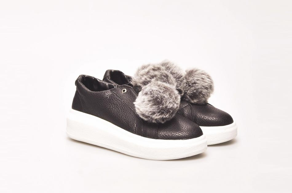 Este oto o invierno el pelo est de moda mercer a la costura - Pompones para zapatillas ...