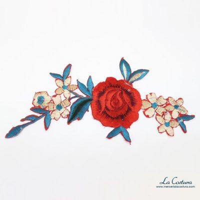 parche-flor-roja-pequena