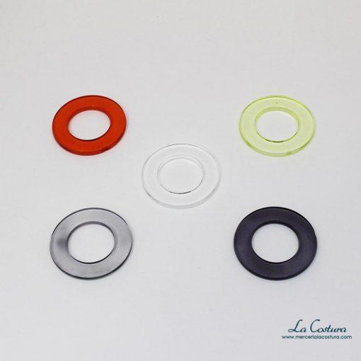 Anillas de plástico semitransparentes