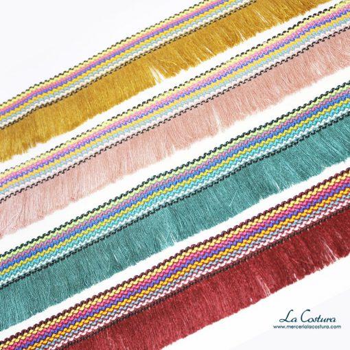 Fleco con cinta multicolor