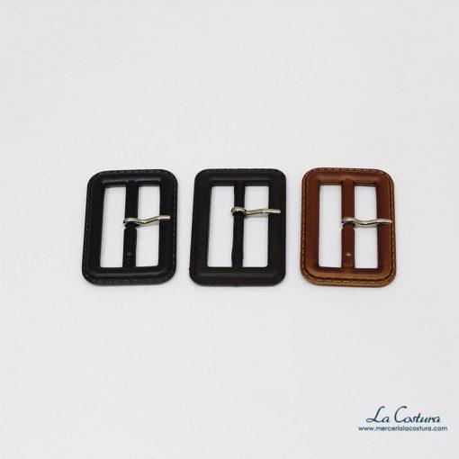 Hebillas imitación piel de 4 cm