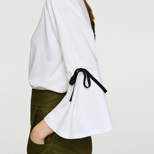 Lazada en mangas de camiseta