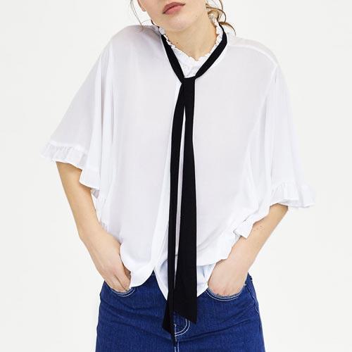 Lazo a modo de corbata para blusas