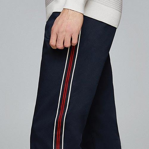 Pantalón chino hombre con banda lateral