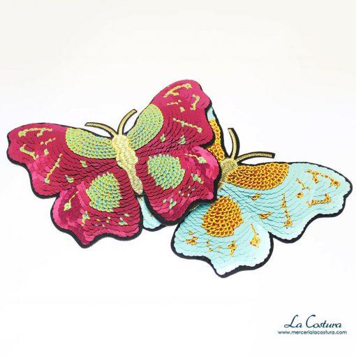 Parche de lentejuelas en forma de mariposa grande