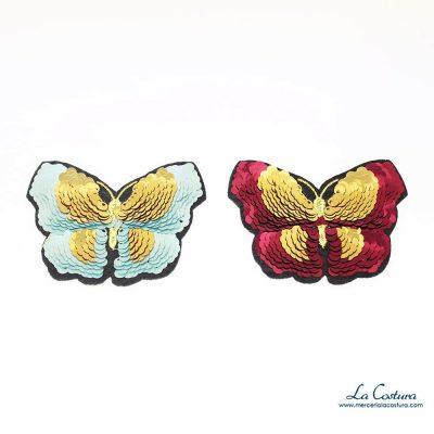 Parche de lentejuelas en forma de mariposa pequeño