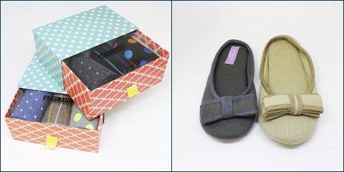 Calcetines y zapatillas de casa para regalar