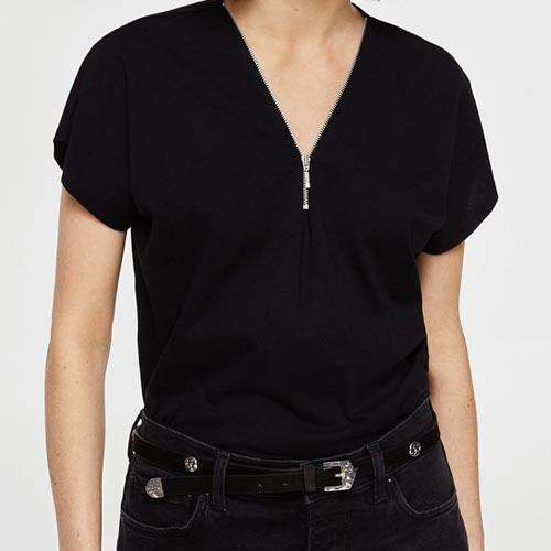Camiseta mujer con cremallera