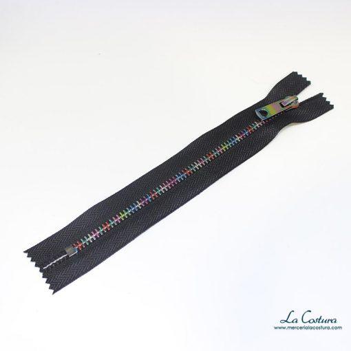 Cremallera multicolor sin separador 18 cm