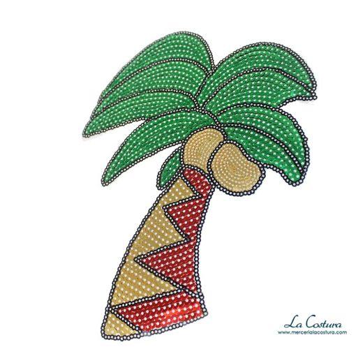 Parche lentejuelas palmera