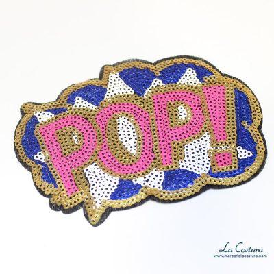 Parche lentejuelas pop