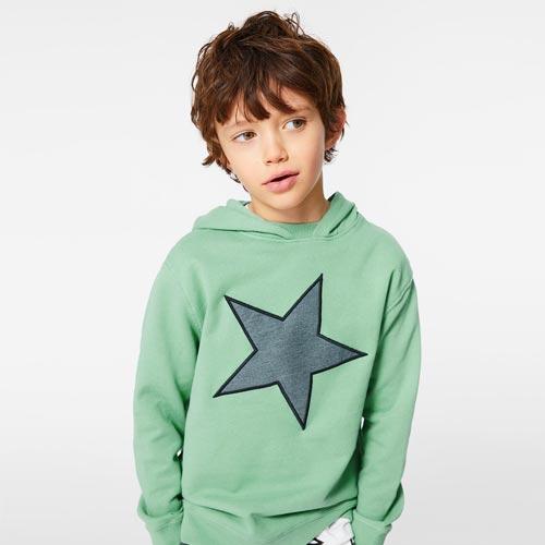 Sudadera niño con parche de estrella