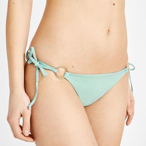 Braguita de bikini con anillas y cintas para anudar