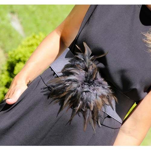 Cinturón elástico con plumas