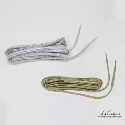 Cordón para zapatos dorado y plata