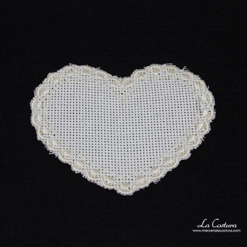 Tela de panamá forma de corazón