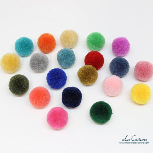 Pompones de lana pequeños de colores