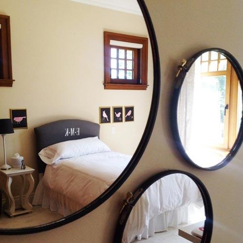 Bastidor reconvertido en espejo