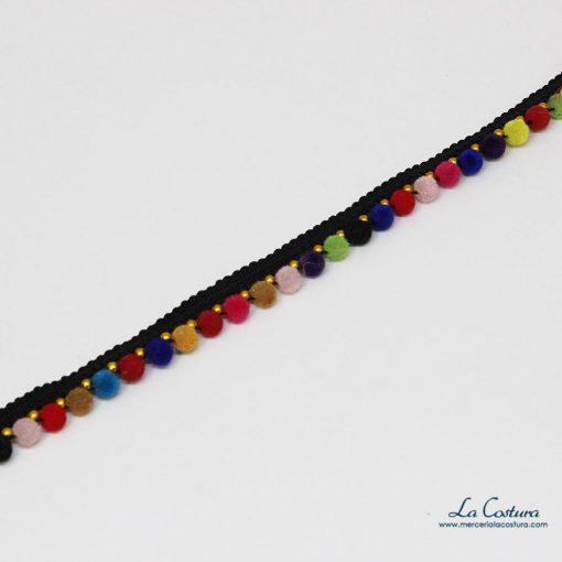 Madroño de terciopelo multicolor de una fila