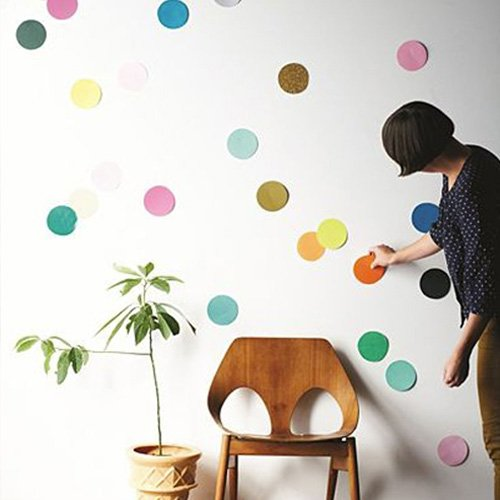 Vinilo de pared de confeti realizado con fieltro
