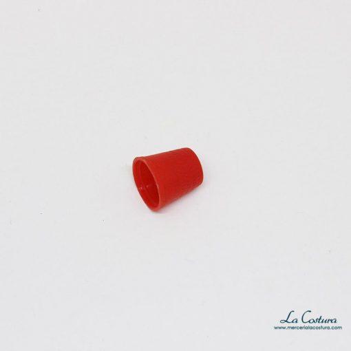 Dedal de plástico rojo
