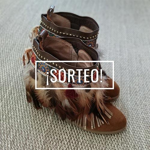 Sorteo cubrebotas étnico realizado por Soniketes con productos de Mercería La Costura