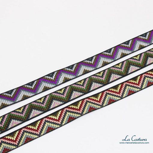 Galón de 2 cm de triángulos de colores