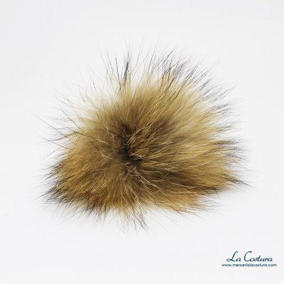 Pompones de pelo natural pequeños