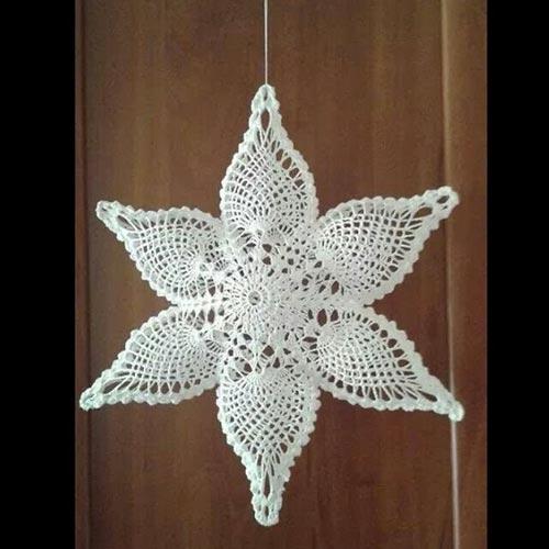 Estrella de Navidad de crochet