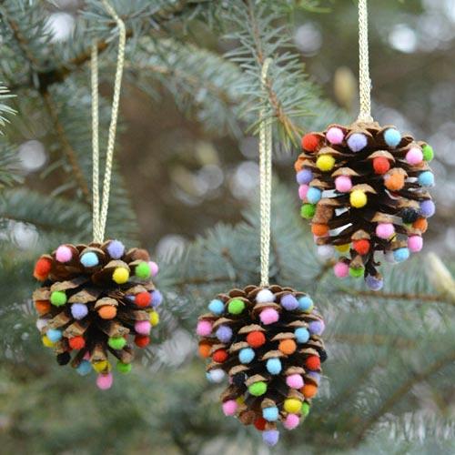 Piñas decorativas para árbol de Navidad