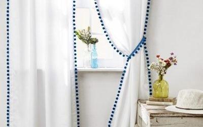 8 bonitas maneras para decorar tus cortinas