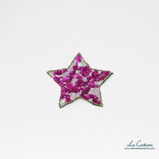 Aplique forma de estrella de lentejuelas