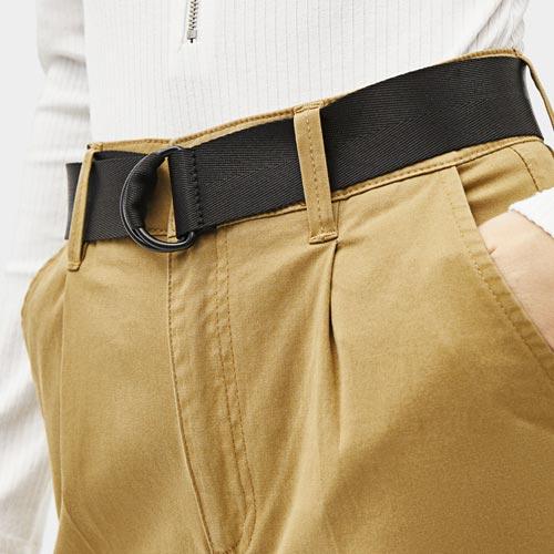 Cinturón de lona con anillas