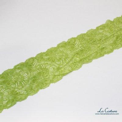 Puntilla elástica margaritas 8,5 cm