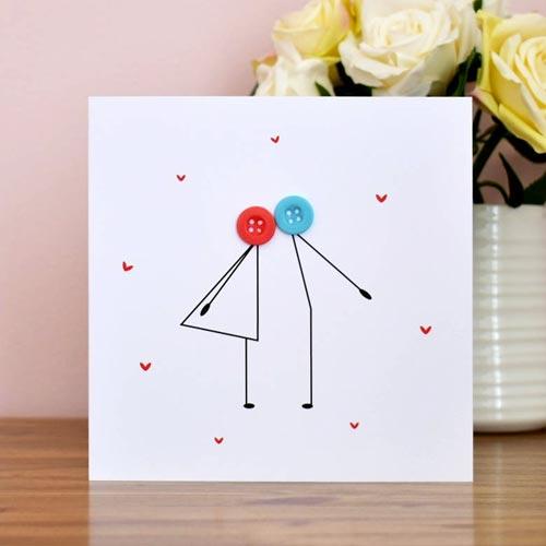 Tarjeta de San Valentín con botones