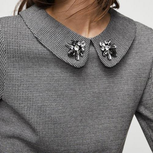 Cuello con piedras acrílicas incrustadas