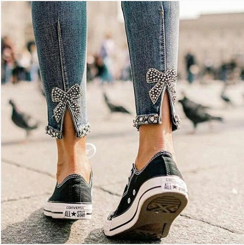 Como Arreglar Tus Jeans Favoritos Customizando Merceria La Costura