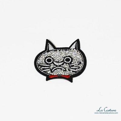 parche-gato-strass-animales