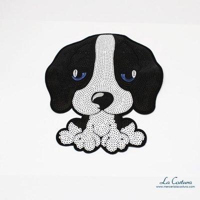 parche-perro-grande-negro-blanco