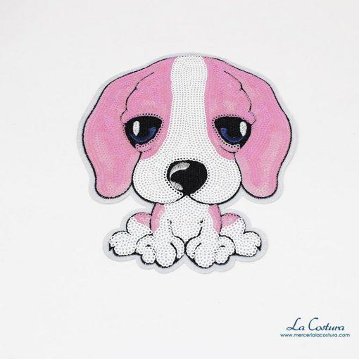 parche-perro-grande-rosa-blanco