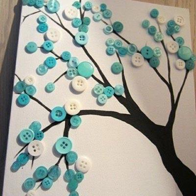 ideas-creativas-botones-cuadro-diy
