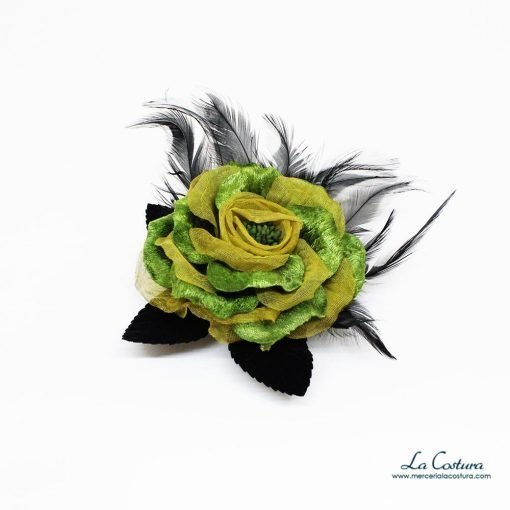flor-tela-terciopelo-negras