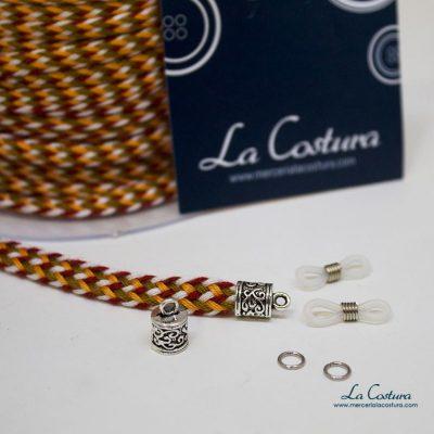 kit-cuelga-gafas-cordon-algodon-trenzado-naranja