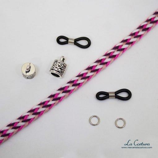 kit-cuelga-gafas-cordon-algodon-trenzado-rosa-detalle