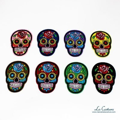 parches-calaveras-catrinas-colores