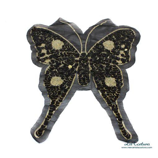 parche-lentejuelas-mariposa-dorada-y-negra