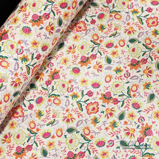 tela-de-popelina-estampado-de-flores-naranjas-details