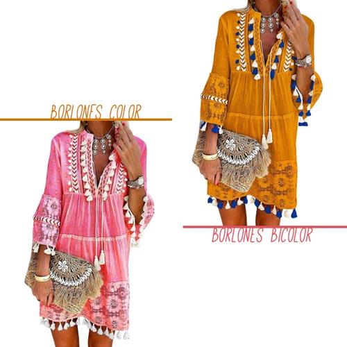 vestidos-boho-para-verano-entredos-borlones